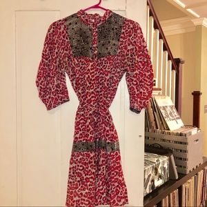 Judi Rosen Hot Pink Prairie Dress Size S
